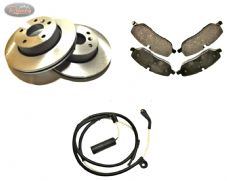 LAND ROVER DISCOVERY 3/4 TDV6- FRONT- BRAKE PAD, DISC and SENSOR set.